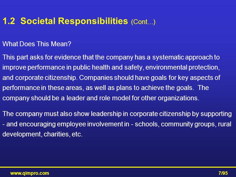 1.2 Societal Responsibilities (Cont...)