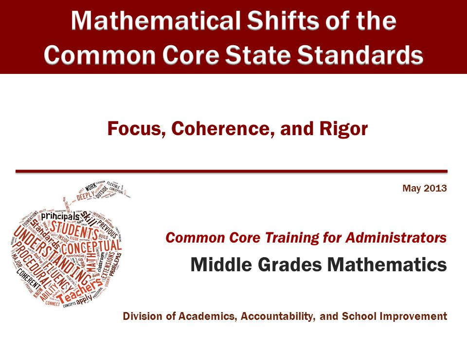 OELCS 2005 Math Module 3 Speaker Notes Focus, Coherence, and Rigor