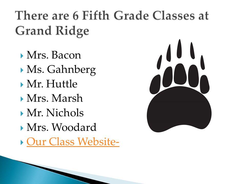 There are 6 Fifth Grade Classes at Grand Ridge