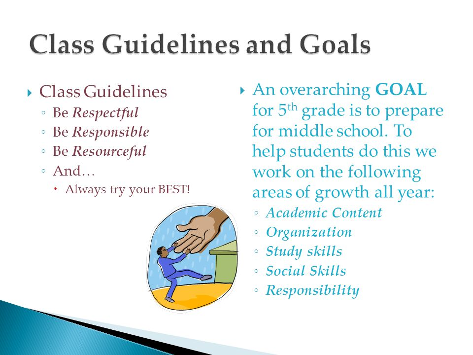 Class Guidelines and Goals