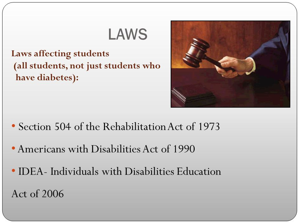 LAWS Section 504 of the Rehabilitation Act of 1973