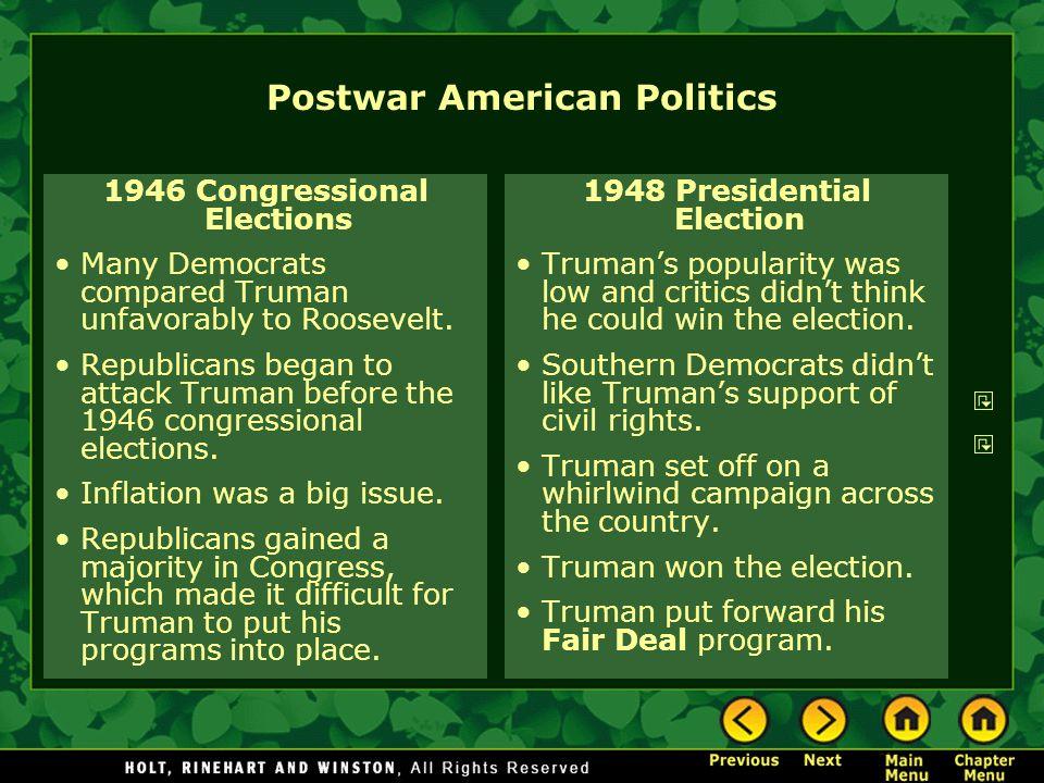 Postwar American Politics