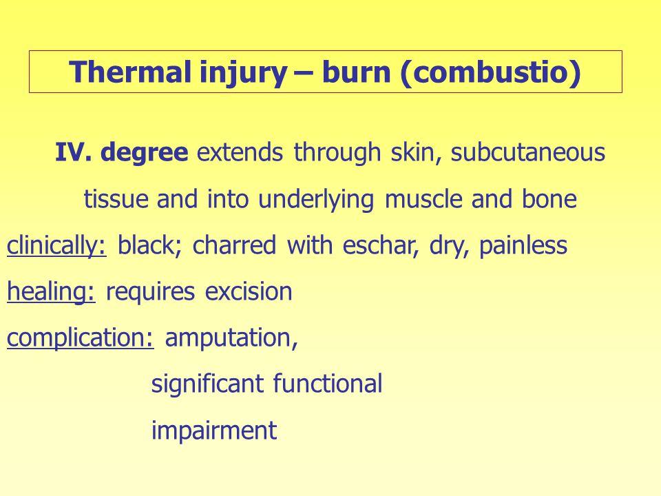 Thermal injury – burn (combustio)