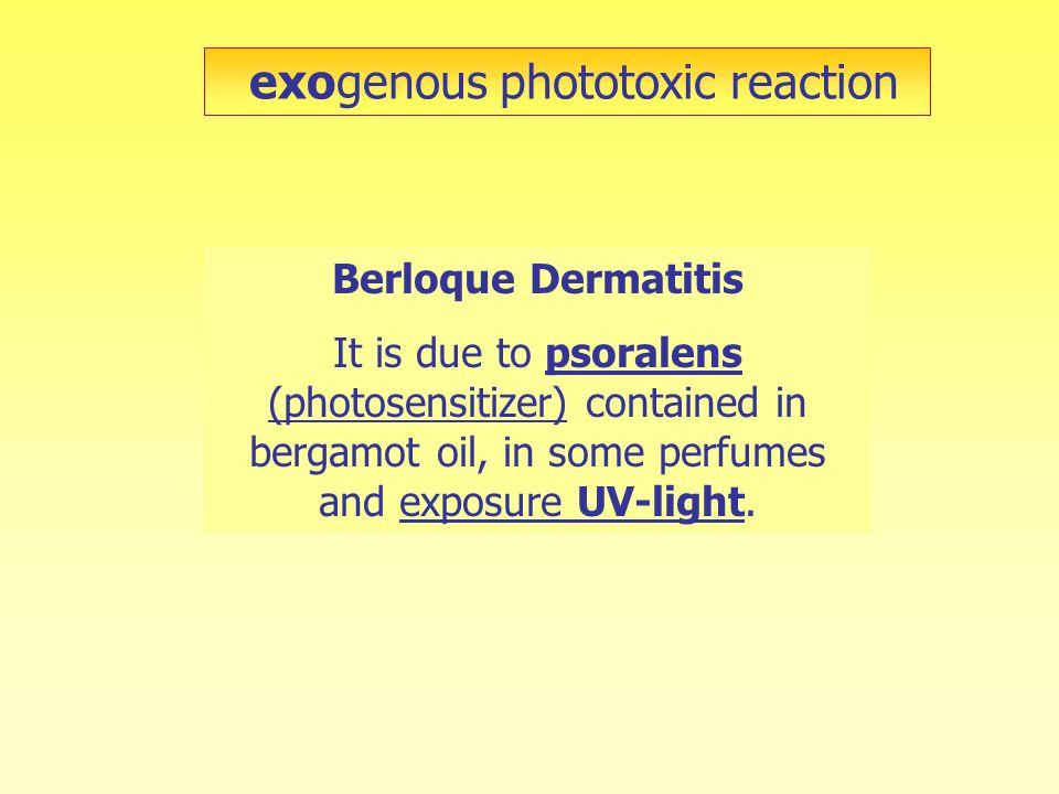 exogenous phototoxic reaction