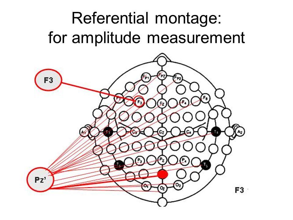 Referential montage: for amplitude measurement