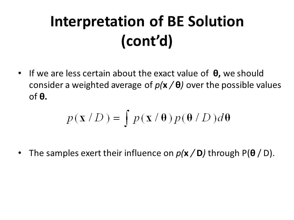 Interpretation of BE Solution (cont'd)