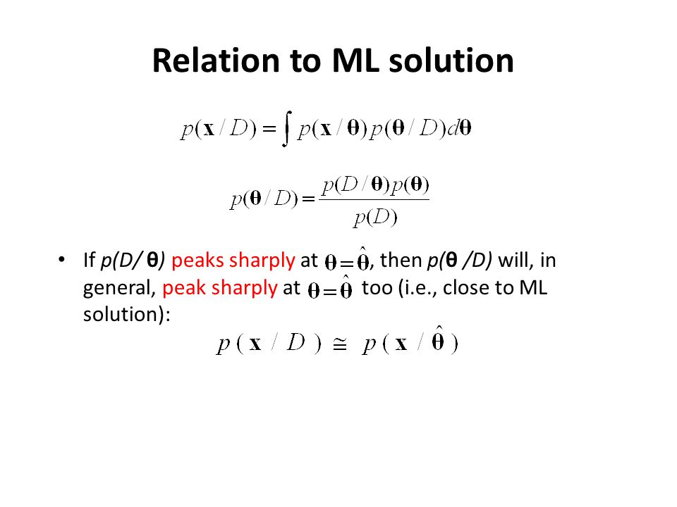 Relation to ML solution