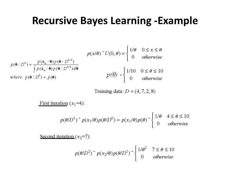 Recursive Bayes Learning -Example