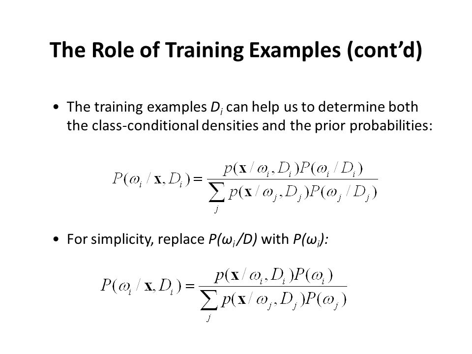 The Role of Training Examples (cont'd)