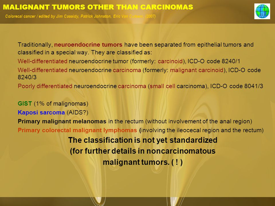 (for further details in noncarcinomatous