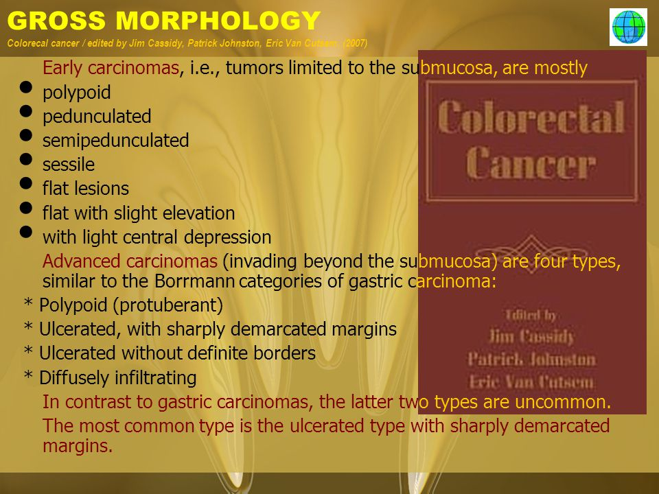 GROSS MORPHOLOGY Colorecal cancer / edited by Jim Cassidy, Patrick Johnston, Eric Van Cutsem. (2007)