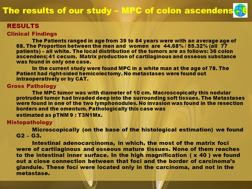 The results of our study – MPC of colon ascendens - 6
