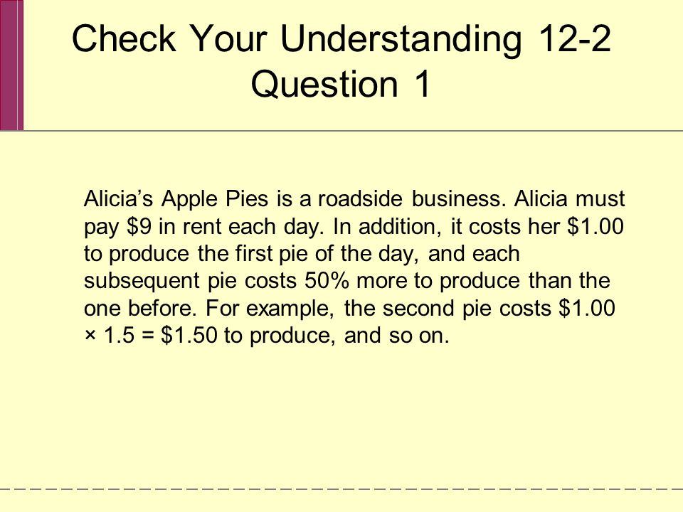 Check Your Understanding 12-2 Question 1