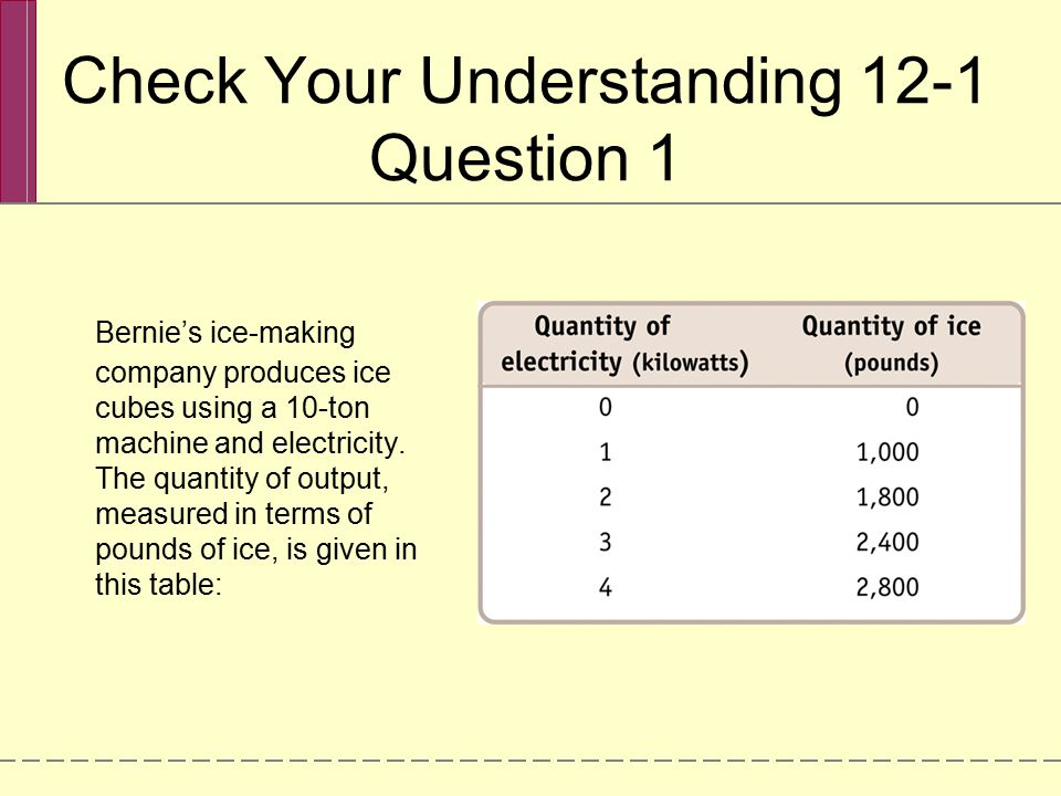 Check Your Understanding 12-1 Question 1