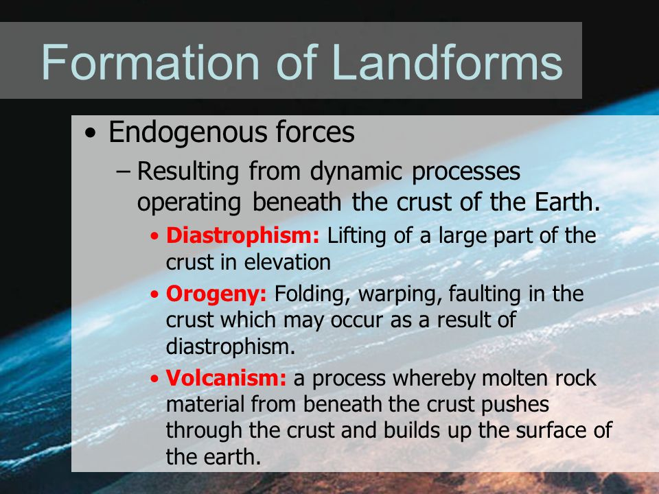 Formation of Landforms