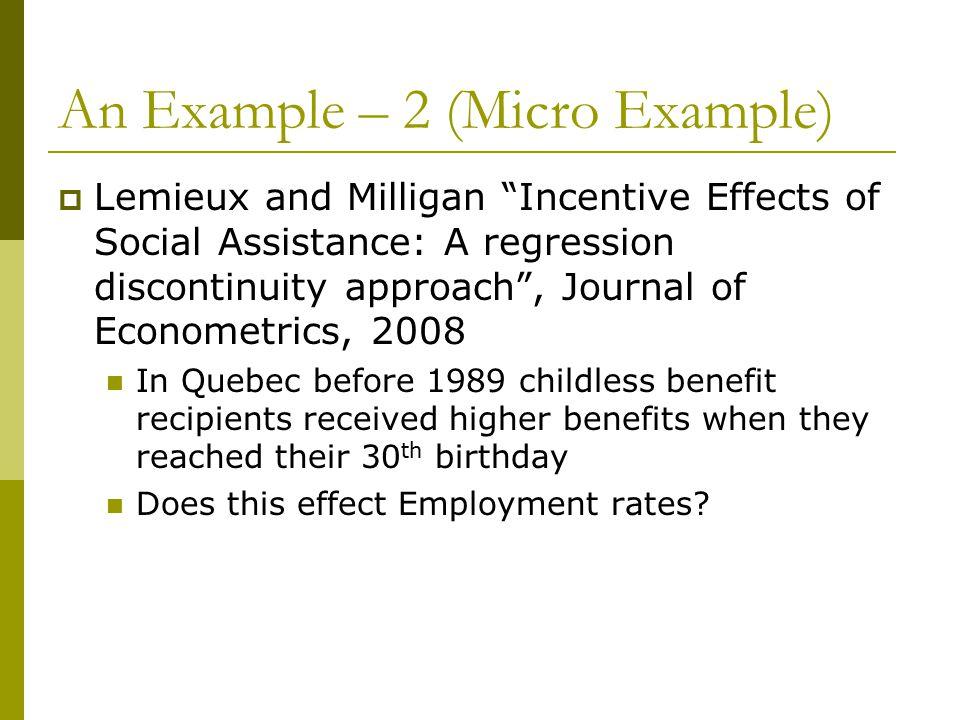 An Example – 2 (Micro Example)