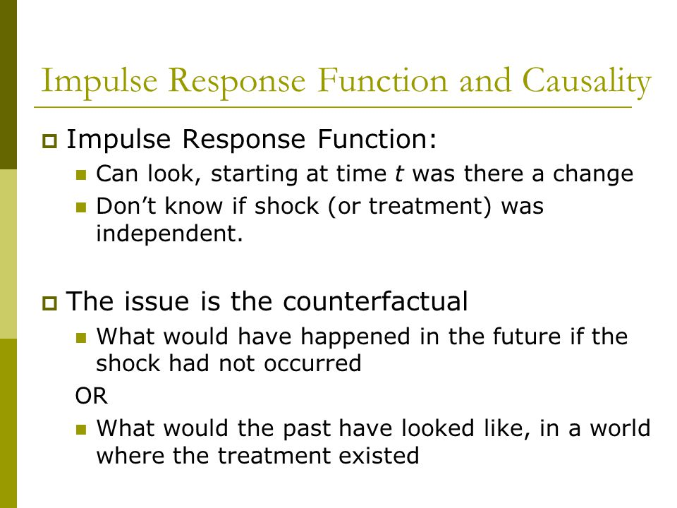 Impulse Response Function and Causality