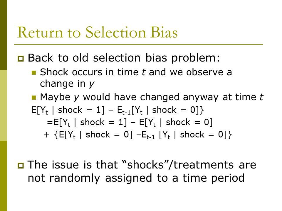 Return to Selection Bias