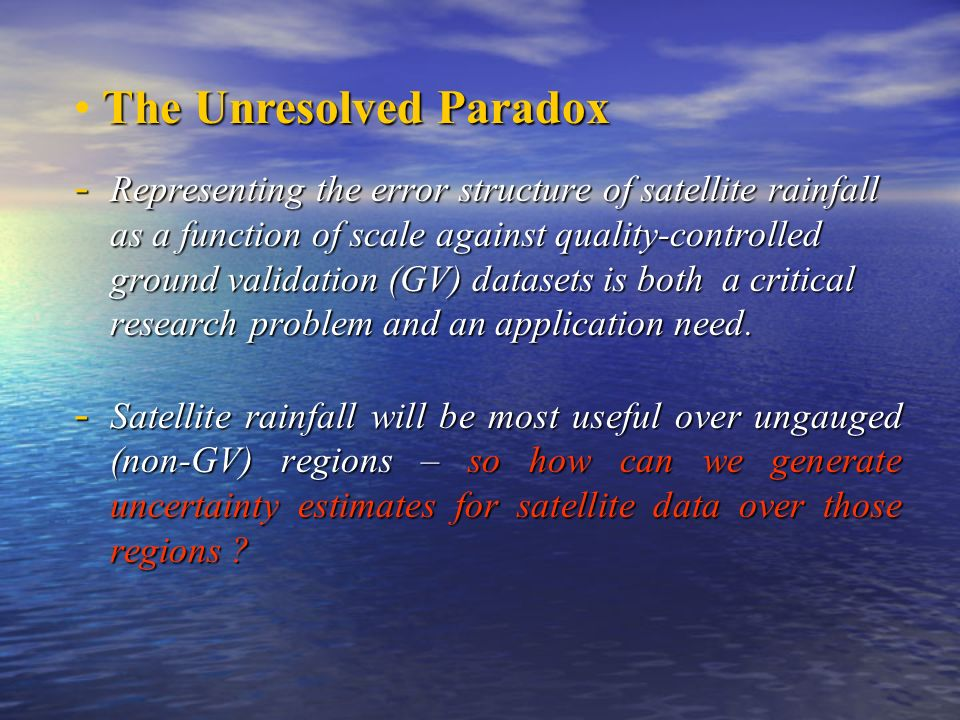 The Unresolved Paradox