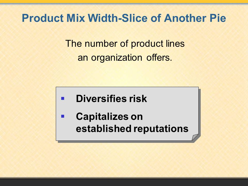 Product Mix Width-Slice of Another Pie