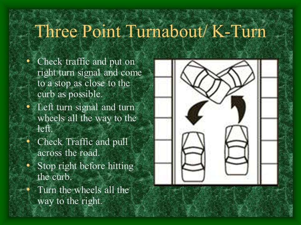 Three Point Turnabout/ K-Turn