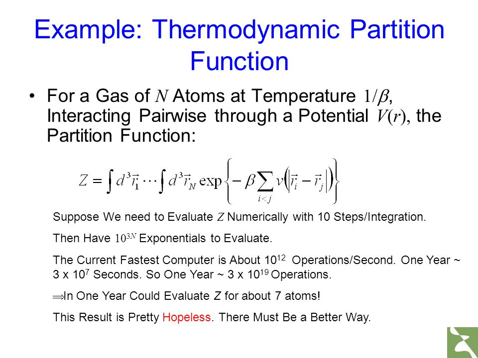 Example: Thermodynamic Partition Function