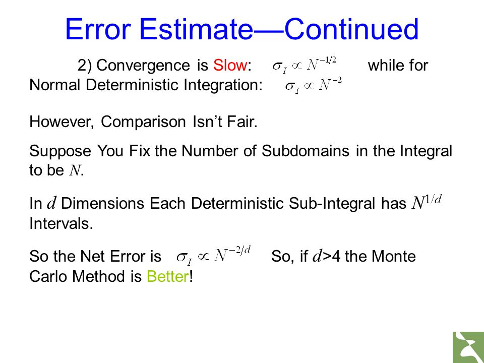 Error Estimate—Continued