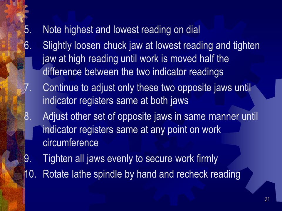 Note highest and lowest reading on dial