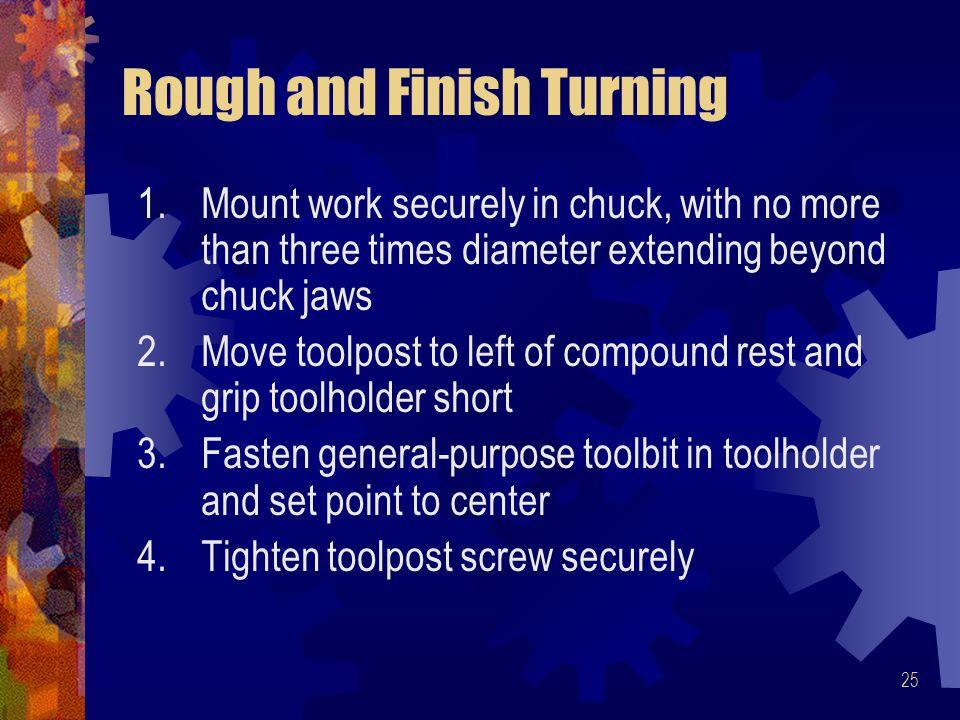Rough and Finish Turning