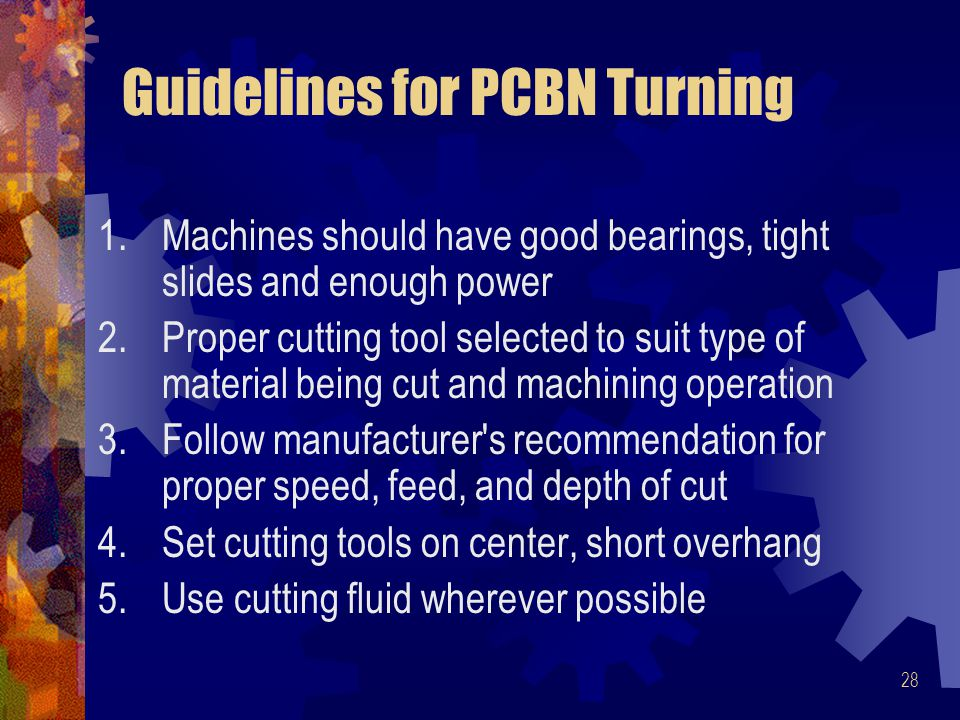 Guidelines for PCBN Turning