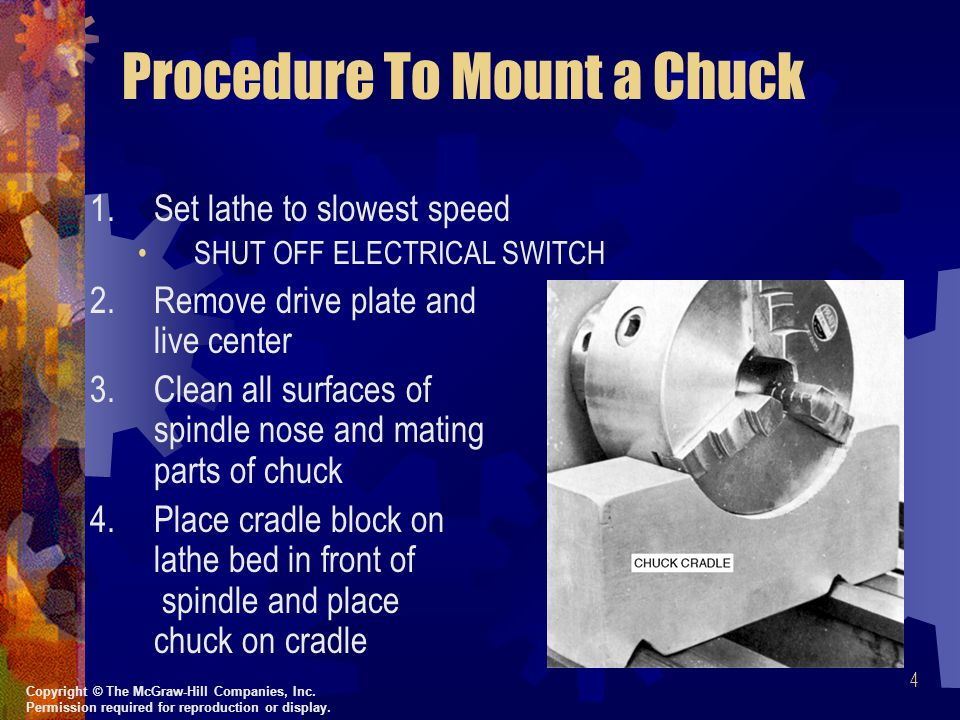 Procedure To Mount a Chuck