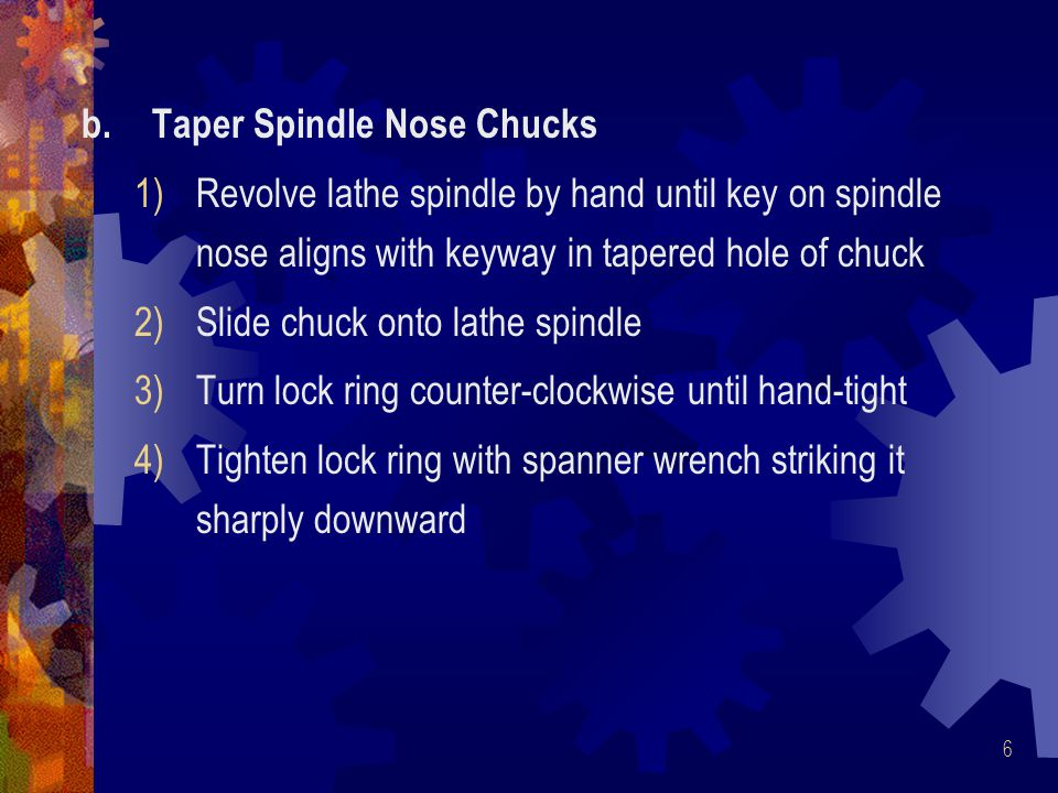 Taper Spindle Nose Chucks