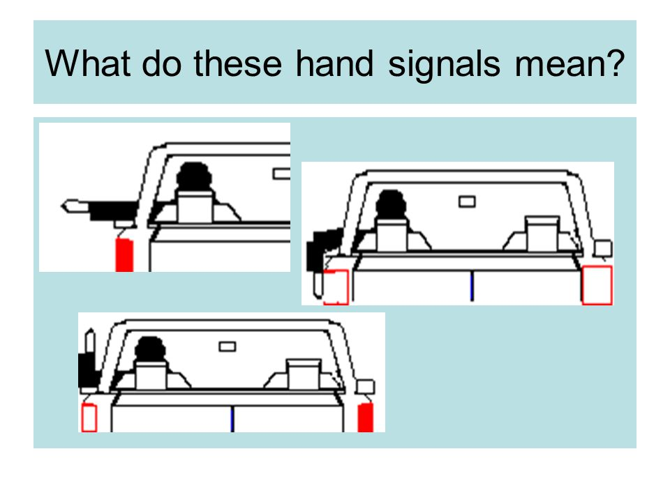 What do these hand signals mean