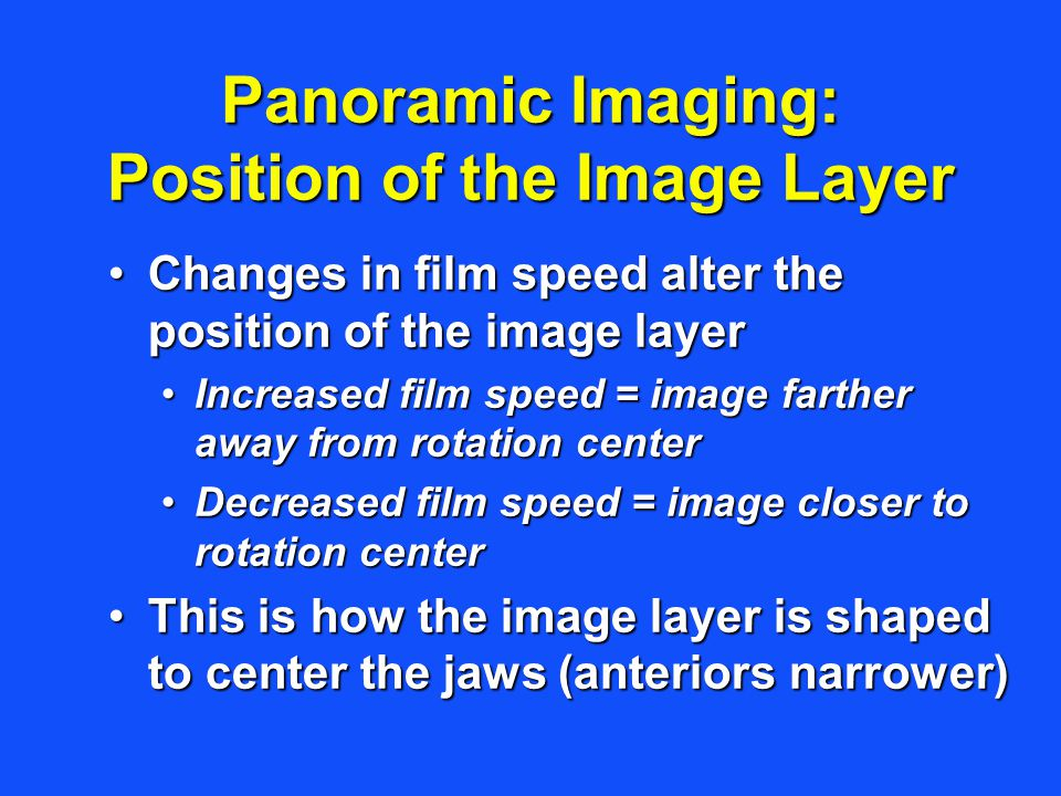 Panoramic Imaging: Position of the Image Layer