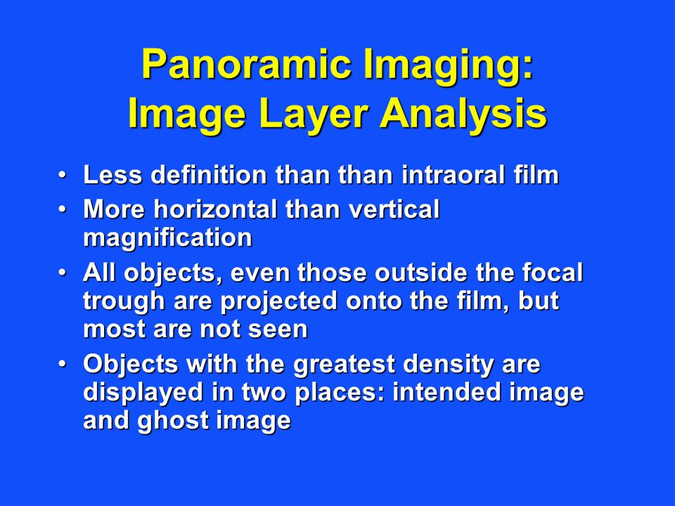 Panoramic Imaging: Image Layer Analysis