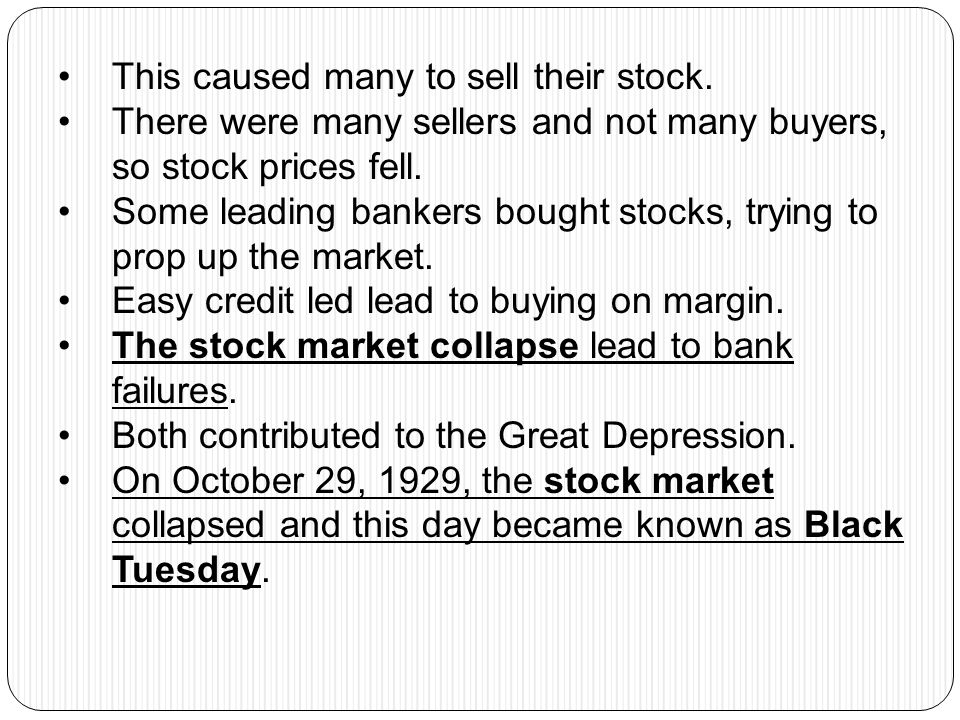 This caused many to sell their stock.
