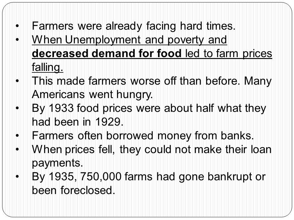 Farmers were already facing hard times.