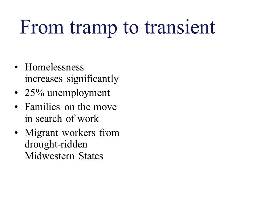 From tramp to transient