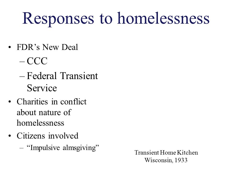 Responses to homelessness