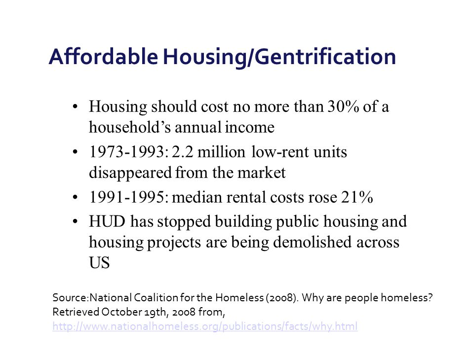 Affordable Housing/Gentrification