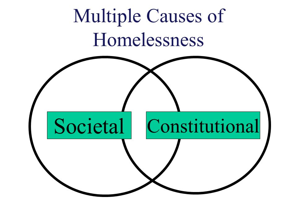 Multiple Causes of Homelessness