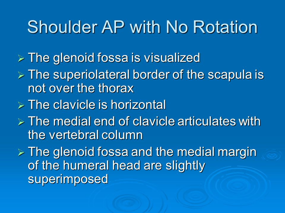 Shoulder AP with No Rotation