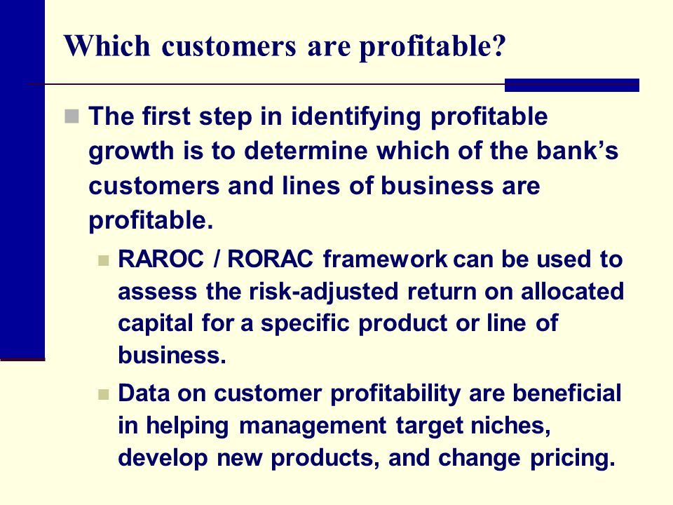 Which customers are profitable