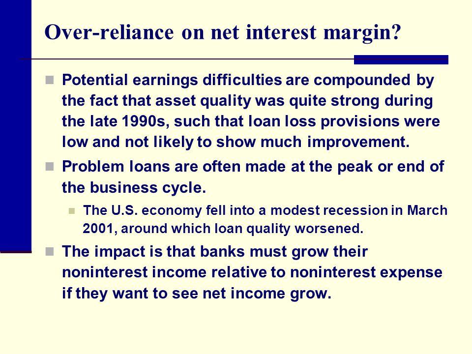 Over-reliance on net interest margin
