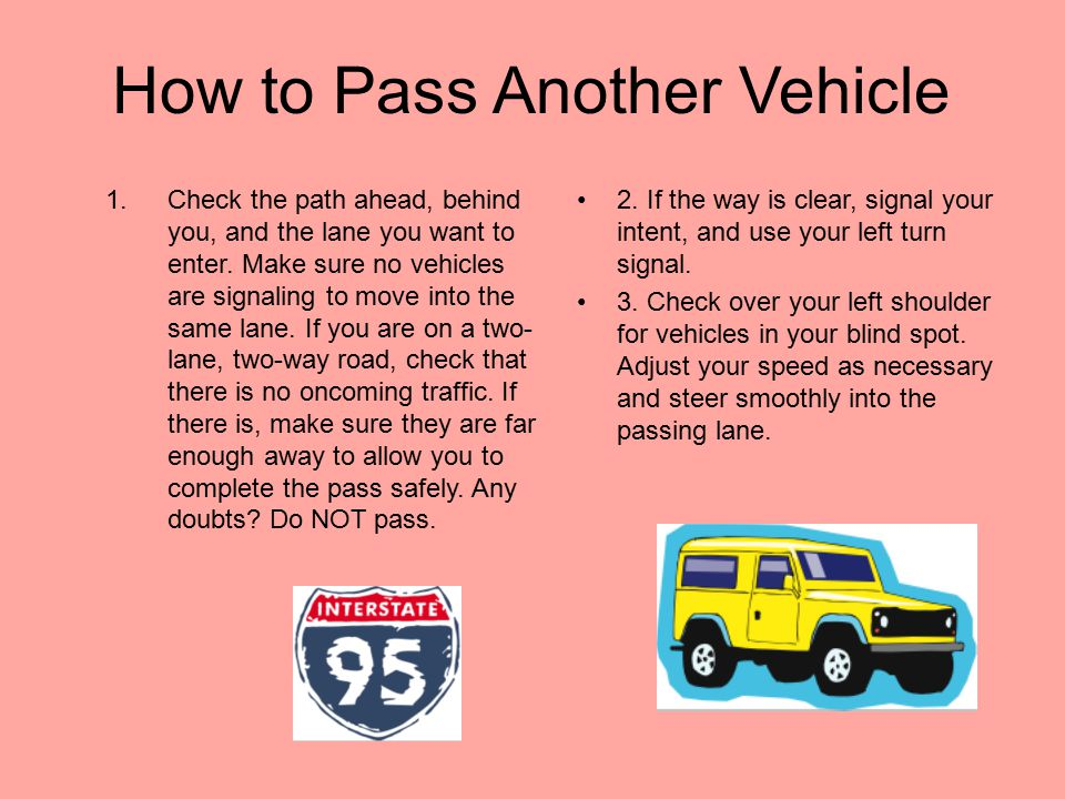 How to Pass Another Vehicle