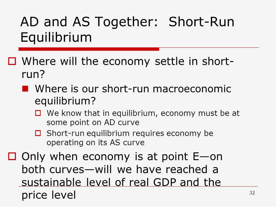 AD and AS Together: Short-Run Equilibrium