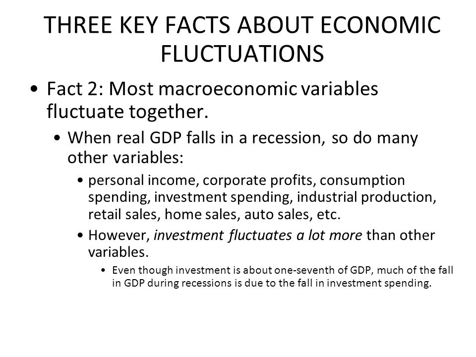 THREE KEY FACTS ABOUT ECONOMIC FLUCTUATIONS