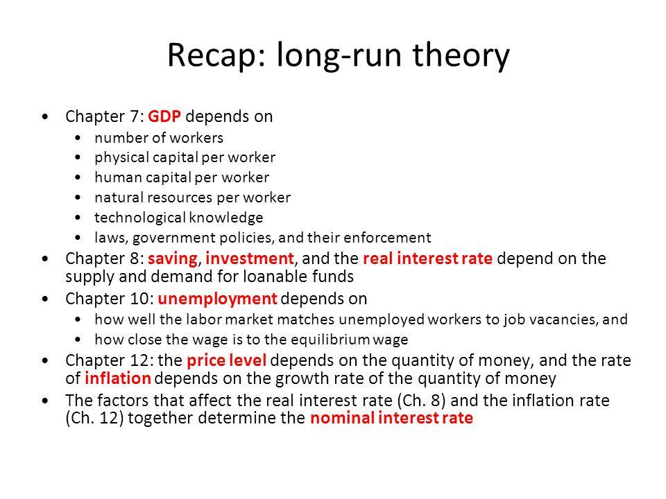 Recap: long-run theory