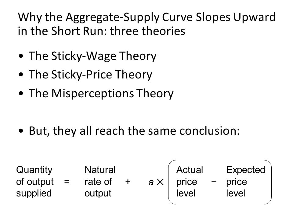 The Sticky-Wage Theory The Sticky-Price Theory