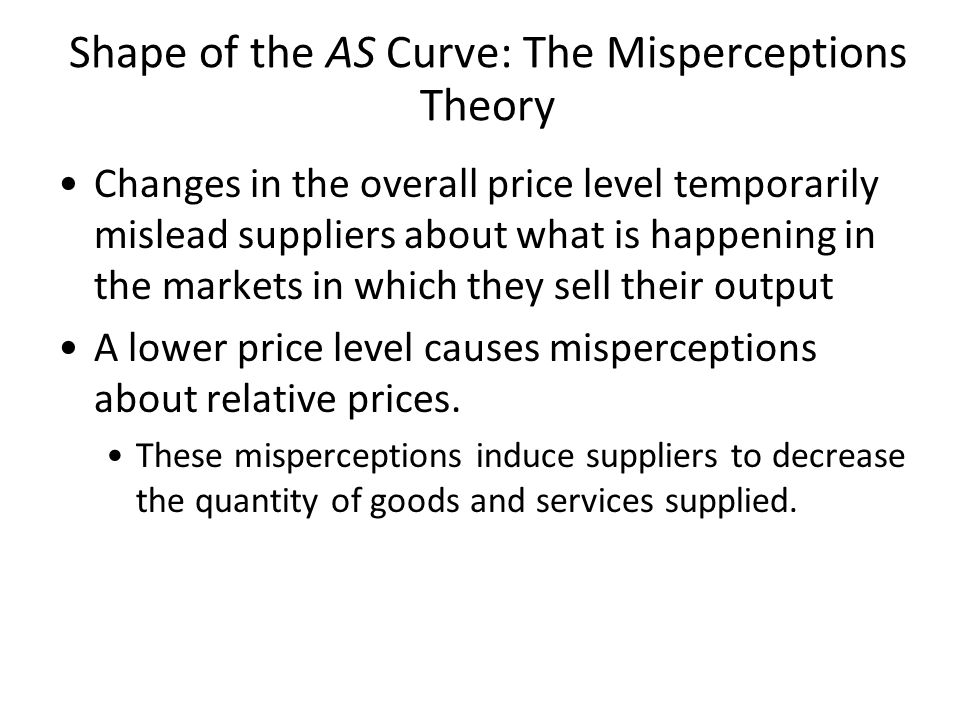 Shape of the AS Curve: The Misperceptions Theory